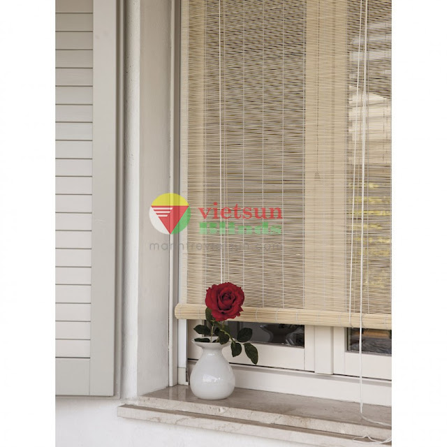 Được làm từ chất liệu trúc tự nhiên nên mành trúc mang lại sự thư thái trong căn nhà.