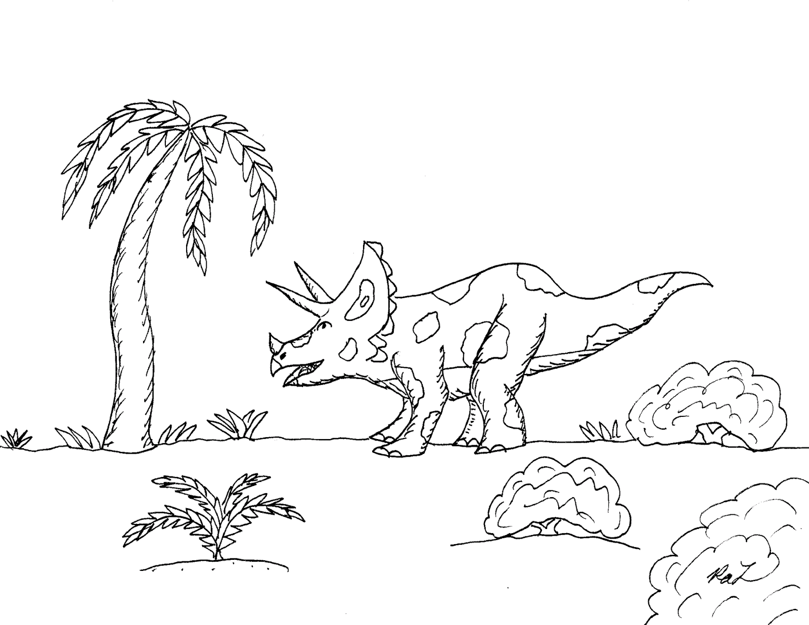 robin u0027s great coloring pages triceratops new theories