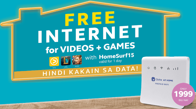 Globe At Home Prepaid WiFi Offers FREE Internet
