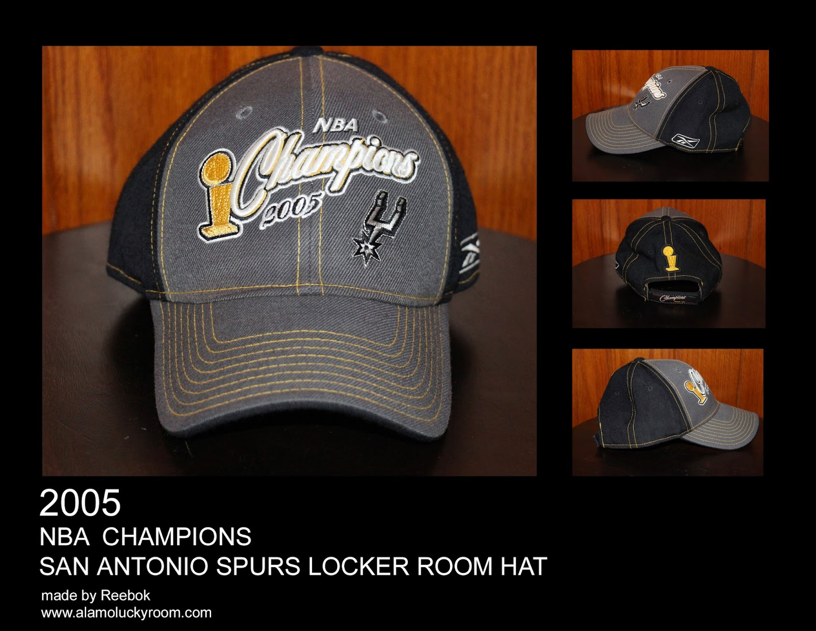 a9fb10aca99 Alamo Lucky Room  2005 San Antonio Spurs NBA Champions Locker Room Hat