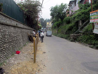 New footpath in Kalimpong town