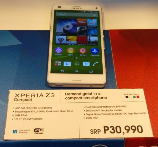 Sony Xperia Z3 Compact Unveiled Locally