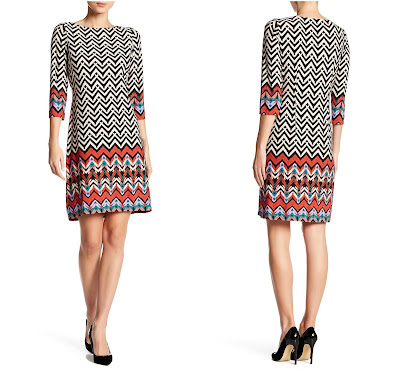 Maggy London MJ Chevron Arrowhead Print Dress $18 (reg $118)!