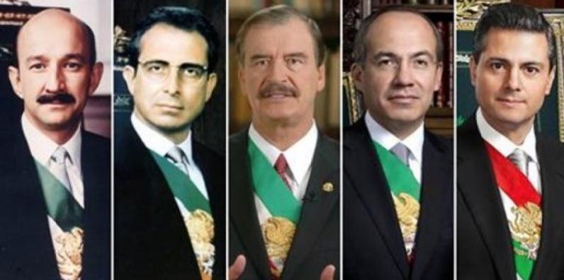Salinas, Fox, Calderón y EPN pueden ser enjuiciados por sus delitos si los mexicanos lo exigen.