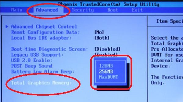 Cara Menambah VRAM Lewat BIOS