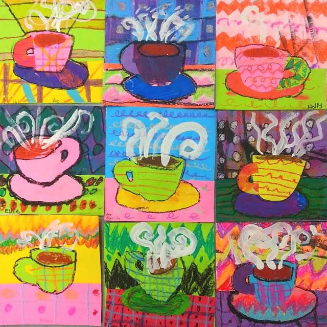 Preschool Soup Can Circle Paintings