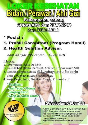 lowongan kerja kesehatan perawat surabaya