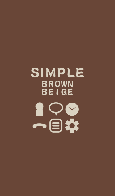 SIMPLE brown*beige
