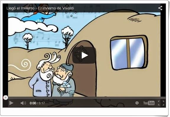 """""""Llegó el invierno"""" (El invierno de Vivaldi). Audición y cuento para Educación Infantil y Primaria."""