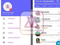 Download BBM MOD Tema Electric Blue Versi 3.2.5.12 Apk