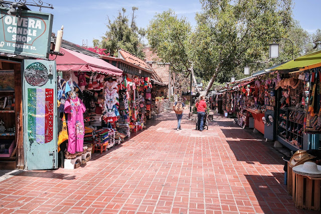 Região de Olvera Street em Los Angeles