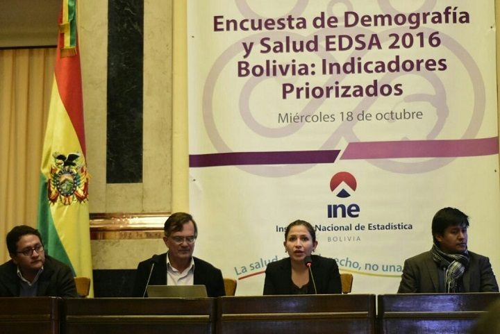 Encuesta de Demografía y Salud 2016 fue presentada por el Instituto Nacional de Estadística (INE)