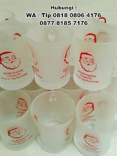 souvenir gelas untuk menyambut hari natal, Gelas Tema Natal, Souvenir Gelas Mug Jar Natal