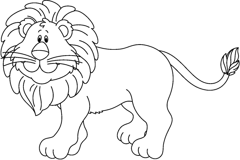 Dibujo De Cachorro De León Para Colorear: Dibujos Para Pintar Un Leon