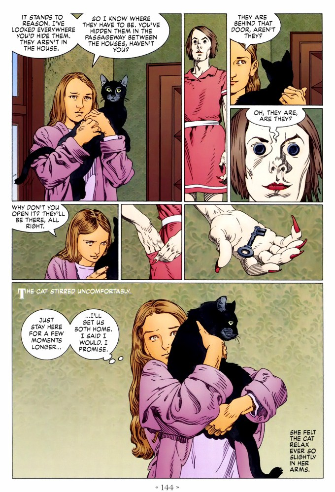 Read page 144, from Nail Gaiman and P. Craig Russell's Coraline graphic novel