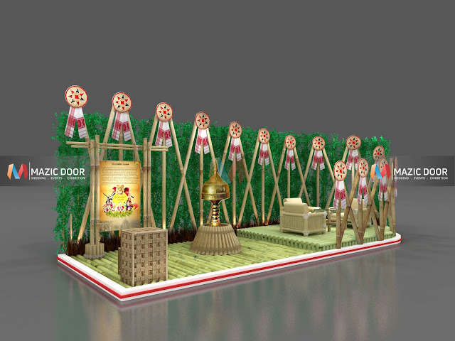 Bamboo Exhibition Stall Design 02