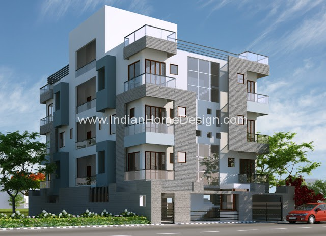 3D Exterior view of an Apartment design | penting ayo di share