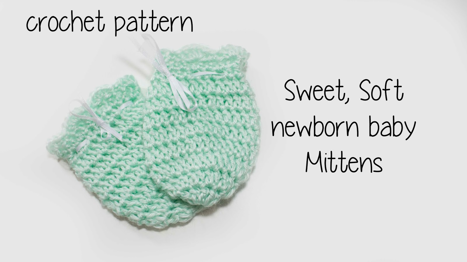 free Newborn Scratch mitten crochet pattern | Charmed By Ashley