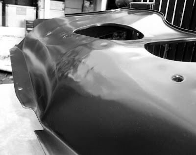 Image of a restored Opel Manta A series sump guard