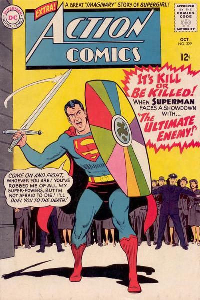 Episode #388 Part IV: Superman Comic Book Cover Dated October 1965: Action Comics #329!