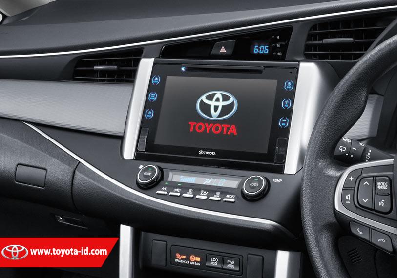 Perbedaan All New Kijang Innova G Dan V Toyota Yaris Trd 2015 Harga Fitur Audio Unit Q Yang Tidak Dimiliki Oleh Tipe Adalah Hanya Air Gesture Saja Selebihnya Memiliki Semua Terdapat Pada