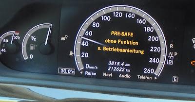 Taxi München Anzeige Pre Safe ohne Funktion