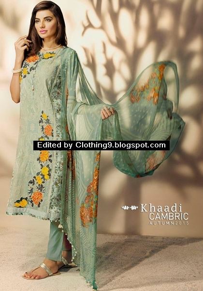 Khaadi embroidered cotton suits