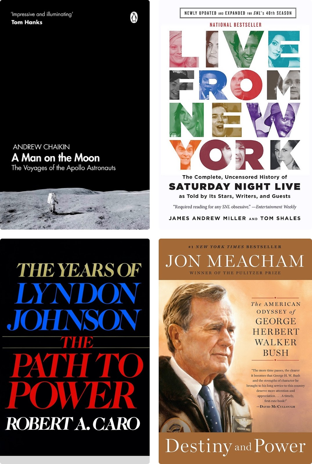 Four of my favorite books that I read this year.