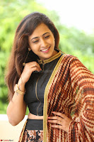 Lasya looks super cute in black choli Saree at Raja Meru Keka Press Meet ~  Exclusive 008.JPG