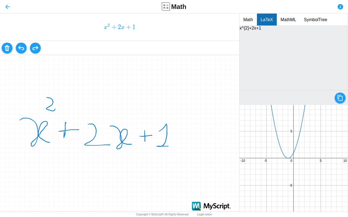 Escreva equações usando apenas o mouse