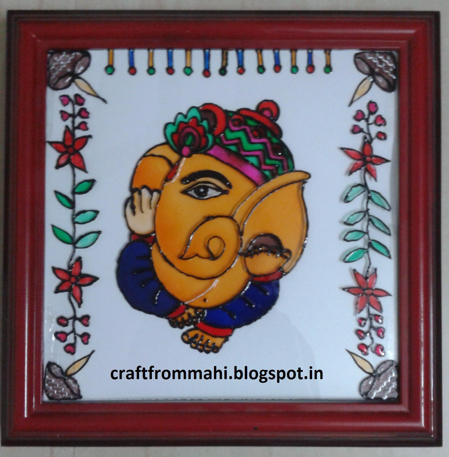 My Interest Glass Painting Ganesha