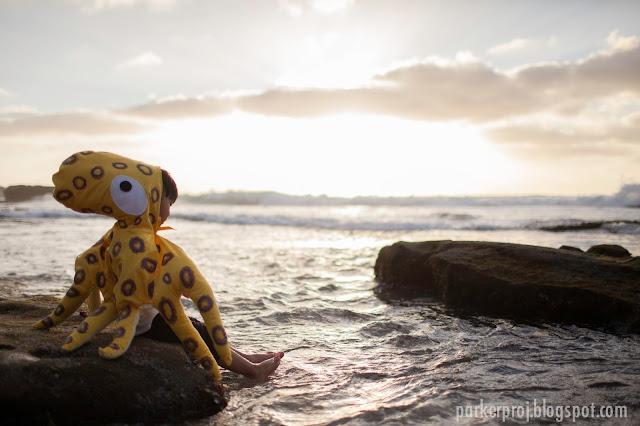 octopus costume, costume, handmade costume, halloween, toddler costume