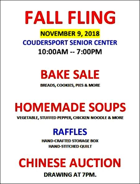 11-9 Fall Fling, Coudersport Senior Center