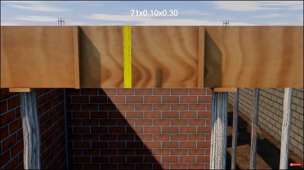 altura das caixarias da viga