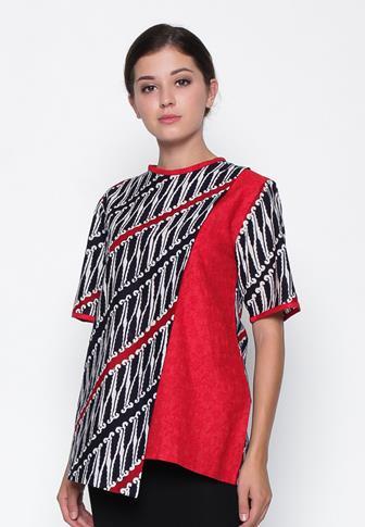 Model BBaju Batik Atasan Wanita Kantor