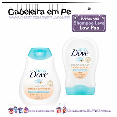 Linha Hidratação Enriquecida Cabelos Cacheados - Dove Baby (Shampoo e Condicionador liberados para Low Poo)