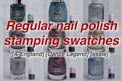 stamping swatches / Part-1 [A-England] [Dance Legend] [essie], スタンピングネイル, スタンピングポリッシュ