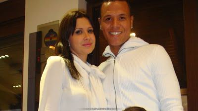 Luís Fabiano and his girlfriend