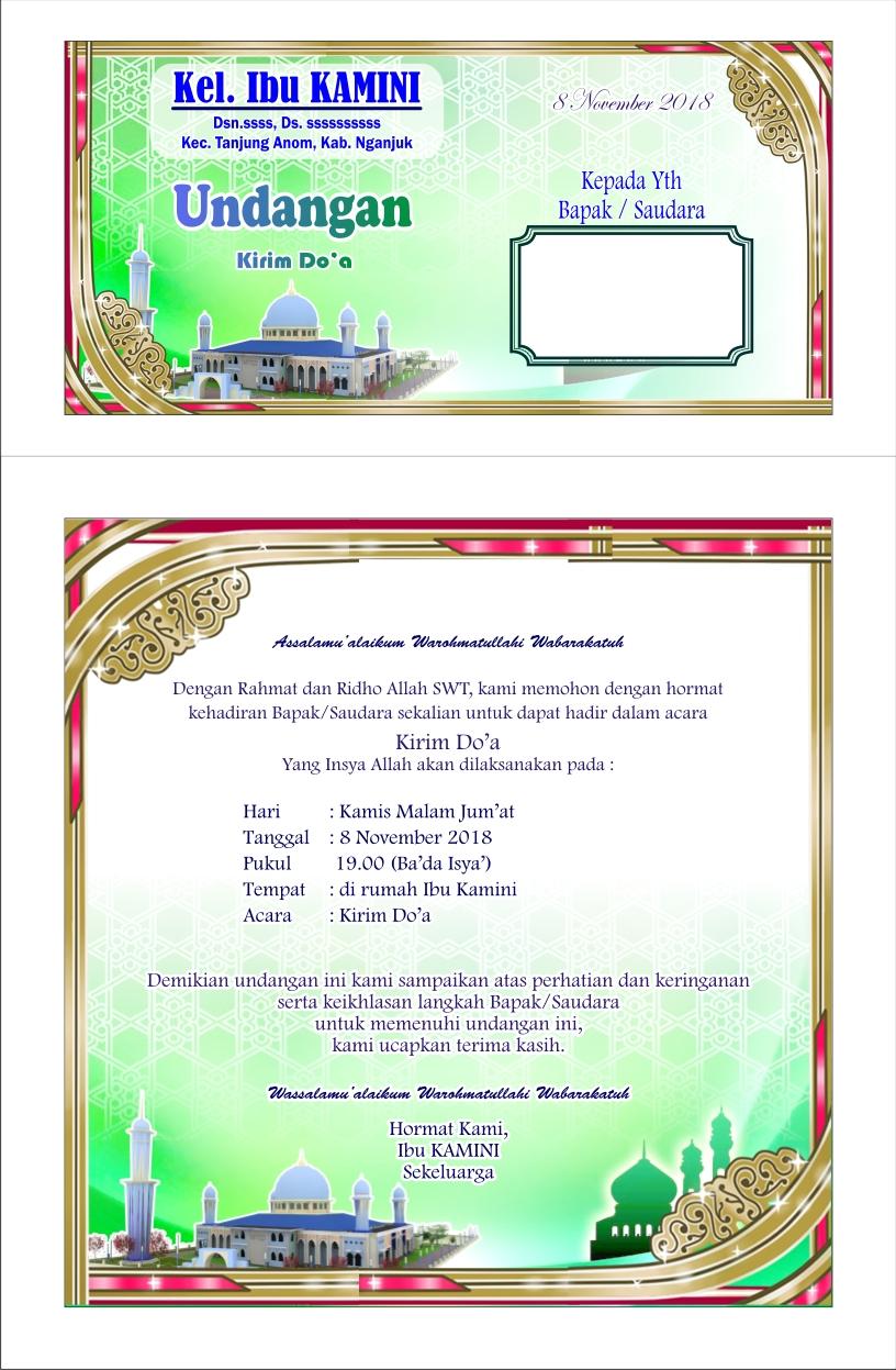 Pesona Alam Desa Pacewetan: Desain | Undangan Tahlil warna ...
