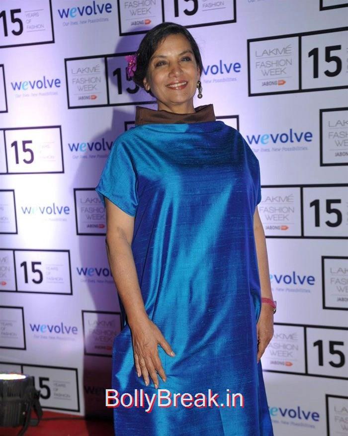 Shabana Azmi, Sridevi, Kajol, Deepika, Neha at Manish Malhotra's show at LFW 2015