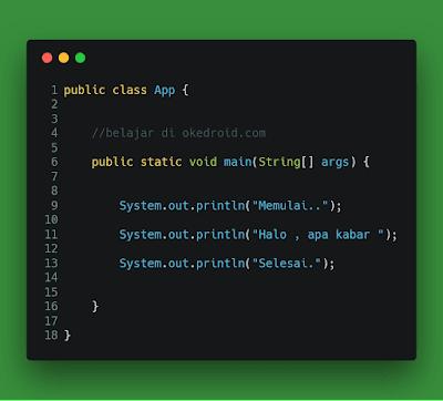Contoh code sederhana untuk test teknik debugging di java