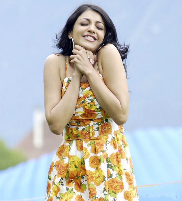 Kajal Agarwal Cute Looking Photos In Yellow Dress