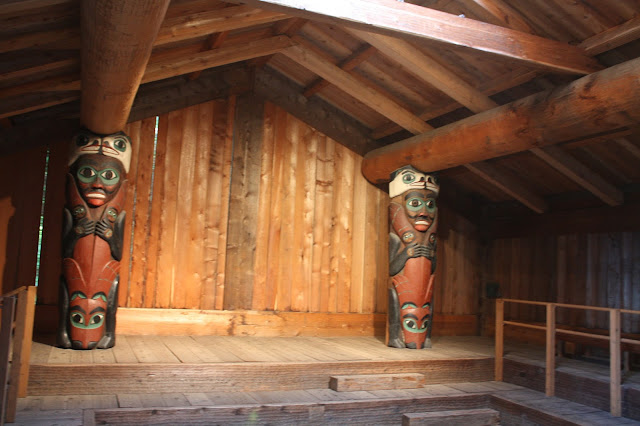 Replica clan house at Totem Bight in Ketchikan, Alaska