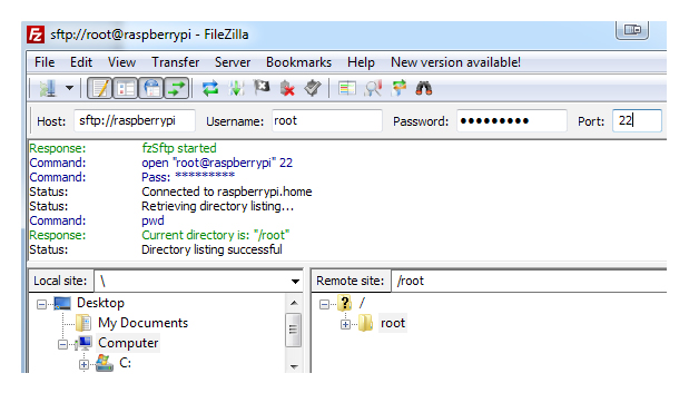 NGINX Server: Connecting with FileZilla