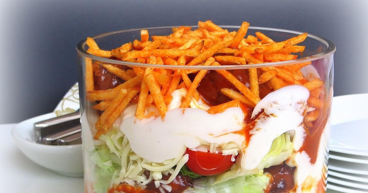 Rezepte mit herz hackb llchen schichtsalat - Eier hart kochen zeit ...