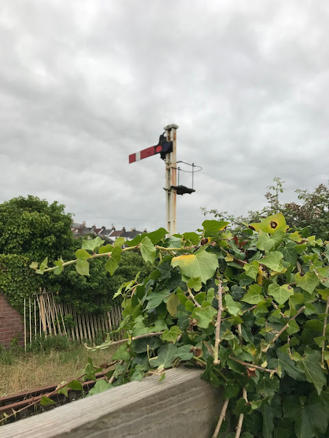Restored but disused signal, Bideford, Devon