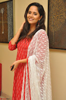 Anasuya Bharadwaj in Red at Kalamandir Foundation 7th anniversary Celebrations ~  Actress Galleries 052.JPG