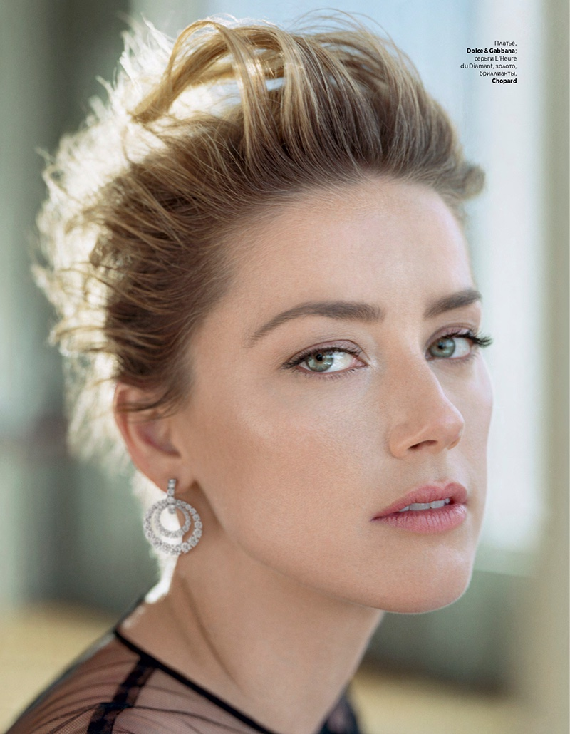 Amber Heard gets her closeup in Chopard earring