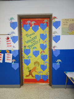 Dr. Seuss There's a Wocket in my Pocket Door Decorating Contest Read Across America