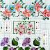 Schemi a punto croce: Cornici e bordi con fiori colorati